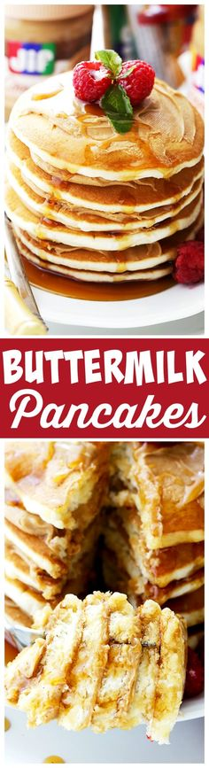 Buttermilk Pancakes Fluffy buttery and delicious are the most perfect breakfast . - Buttermilk Pancakes Fluffy buttery and delicious are the most perfect breakfast snacks & more# brea - Breakfast Snacks, Vegetarian Breakfast, Breakfast Items, Breakfast Dishes, Breakfast Recipes, Pancake Recipes, Buttermilk Pancakes Fluffy, Pancakes And Waffles, Pancake