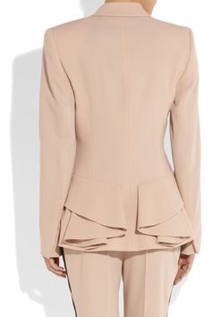 #McQ Alexander McQueen Wool-twill bustle jacket