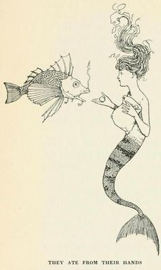 Hans Andersen's fairy tales (1913) Illustrations by William Heath Robinson.      They ate from their hands