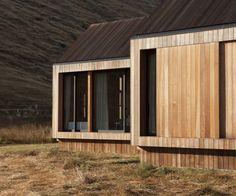 Sliding cedar panels provide shelter in bad weather