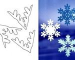 Christmas and New Year decorative showflakes template