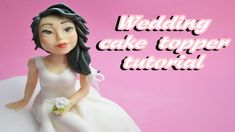 bride sugar paste wedding cake topper fondant - tutorial sposa in pasta ...