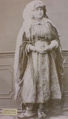 """A Lady from Jeddah""  by  Pascal Sébah, 1873"