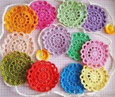 Tecendo Artes em Crochet: Passo a Passo do Motivo para Fazer Varal Flores