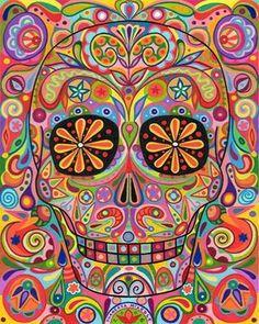 Dia de Los muertos. Amazing colors