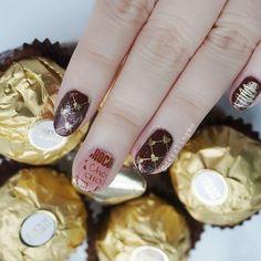 I  Chocolate  @glamournailart #nailartchallengenov . . Plate @konad_official Square 22 . . #nails #nailart #nailfie #trna #nailswag #nails2inspire #kawaiinail #shortnails #nailstamping #stampingnailart #notd #nailsofig #manicure #nailitdaily #nailedit #nailsonfleek #nag_repost #naildesign #美甲 #指甲彩繪 #npa #nailartwow
