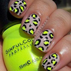Sugar Coat' and Sinful Colors 'Neon Mellon'. #nailartwow #nails2inspire ...