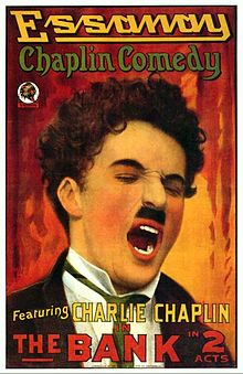 The Bank. Charles Chaplin, Edna Purviance, Carl Stockdale, Charles Inslee. Directed by Charles Chaplin. Essanay Studios. 1915