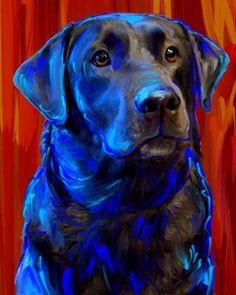 Black Lab Labrador Retriever Dog Art                                                                                                                                                                                 More