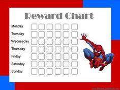 Printable  Personalized Child Behavior Reward Chart  Pirates