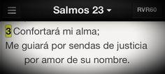 Dios apacigua la inquietud, nos dirá por dónde caminar y estar tranquilos #Promesa Salmo 23:3