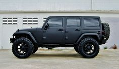 Matted. Nice. Black. Jeep. Rubicon.