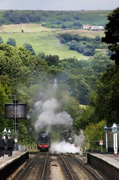 Grosmont, North Yorkshire Moors Railway, England.