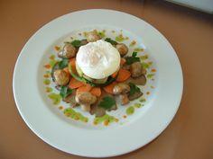 Funghi  verdure e  uovo pochè  salsa  ai peperoni  Gino D'Aquino