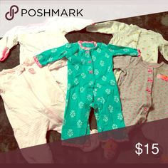 ✨SALE✨ 5 pack Pajamas! 4 pairs footed pajamas and 1 footless. Carter's Pajamas