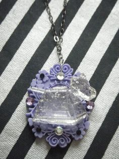 Doctor Who inspired clear K-9 on lilac cameo