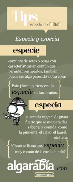 Especie y especia