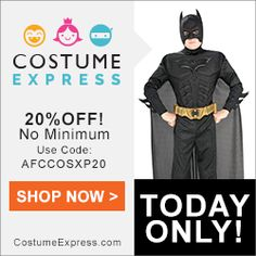 Shop at #CostumeExpress  http://www.planetgoldilocks.com/halloween/sales.html  20% off Costume Express costumes and decorations (no minimum)  Coupon Code: AFCCOSXP20 Start and End Date: 9/8/15 - See more at: http://www.planetgoldilocks.com/halloween/sales.html  #costumes2015 #costumefashions