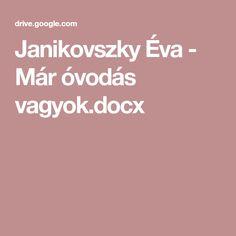 Janikovszky Éva - Már óvodás vagyok.docx
