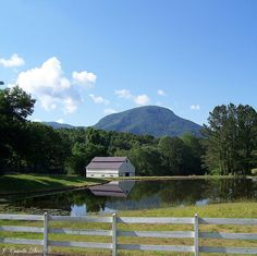 Barn, Pond & Fort Mountain in Murray County, Georgia