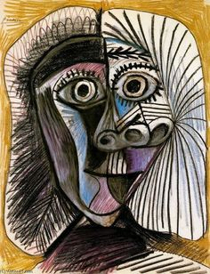 Pablo Picasso - Women's Head, 1972 Pablo Picasso Drawings, Art Picasso, Picasso Portraits, Picasso Paintings, Art Drawings, Picasso Images, Georges Braque, Artist Gallery, Art Plastique