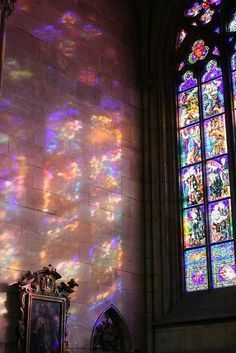 A Moment of utter beauty through stained glass - - A Moment of utter beauty through stained glass Art-chitecture Ein Moment äußerster Schönheit durch Glasmalerei aufgenommen in Pr… Aesthetic Pastel Wallpaper, Aesthetic Backgrounds, Pink Aesthetic, Aesthetic Wallpapers, Nature Aesthetic, Colorful Wallpaper, Travel Aesthetic, Photo Wall Collage, Picture Wall