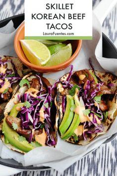 Healthy Taco Recipes, Healthy Tacos, Beef Recipes, Real Food Recipes, Korean Recipes, Skinny Recipes, Korean Beef Tacos, Asian Tacos, Korean Bbq
