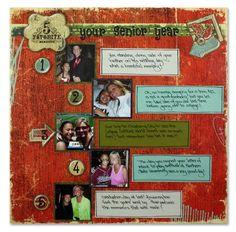 My 5 Favorite Memories Layout Idea