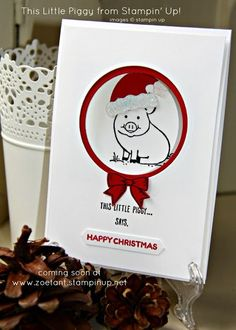 Stampin' Up! Sneak Peeks - This Little Piggy I can't quite believe a fortnight has passed since our last Christmas Card Club challenge and more importantly since my last blog post, but time has not be