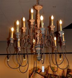 Chandeliers Austin 8 light chandelier 39tall found at design with consignment in 12 light iron chandelier found at design with consignment in austin texas dwconsignment audiocablefo
