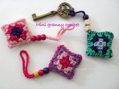 mini granny Crochet ༺✿ƬⱤღ✿༻
