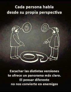 Acerca de puntos de vista diferentes  #tolerancia #perspectiva #paz
