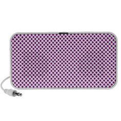 Tiny Purple Polka Dots OrigAudio Doodle 2.0 speaker