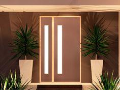 Corinthian - Madison Primed - Entry Door (painted to match garage door) Double Front Entry Doors, Front Doors, Door Design, House Design, Luxury Staircase, Primed Doors, Meditation Room Decor, Front Courtyard, House Front Door
