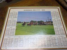 French Calendar  1972  Racecourse  Almanach by BookShopBiblioteque, €21.50
