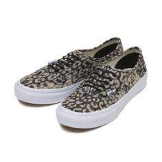9e936dbb7f Vans Authentic Slim Shoes Washed Leopard Print Black Skate Sneakers VN -0XG6DVF