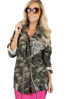 Embroidered Camo Jacket $39.99 #camo #embroidered #cargo #jacket