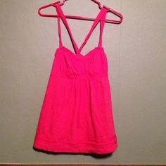Bright pink tank top Bright pink tank top Abercrombie & Fitch Tops Tank Tops
