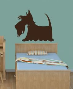 Wall Vinyl Decal Scottie Dog Pet Shop Animal Grooming Room Mural Sticker 68   eBay