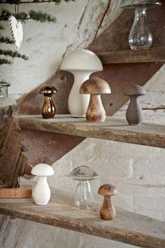 Dekorativní skleněná houba 20 cm | Bella Rose