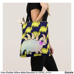Cute Chubby Yellow Belly Dinosaur Tote Bag #Onmeprints #Zazzle #Zazzlemade #Zazzlestore #Zazzlestyle #Cute #Chubby #Yellow #Belly #Dinosaur #Tote #Bag Shopping Bag Design, Shopping Bags, Cute Dinosaur, Kids Bags, Kawaii Cute, Reusable Tote Bags, Yellow, Style, Fashion