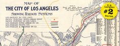 Map of Los Angeles railway systems in 1906 wide thumbnail image. Also see all of our California maps.ee all of our California maps.