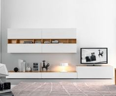 FGF Mobili Wohnwand C42B Design TV Wall Made in Italy: