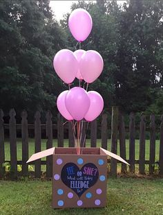 CUSTOM He or She last name gender reveal balloon by Lindstackett