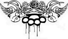 Brass knuckles tattoo design image by duzbetter on Photobucket
