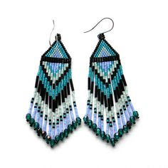 Hey, I found this really awesome Etsy listing at https://www.etsy.com/listing/176676223/fringe-beaded-earrings-beadwork-earrings