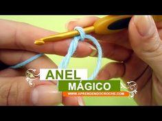 Como fazer crochê - Aula 005 - Anel mágico ou Laço mágico - YouTube