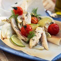 Découvrez la recette papillote d'escalope de poulet au citron vert sur cuisineactuelle.fr.
