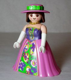 Playmobil Figure Princess Victorian Lady Hoop Skirt Hat Fairy Tale Miniature #PLAYMOBIL