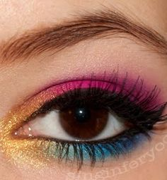 Candyland eye makeup